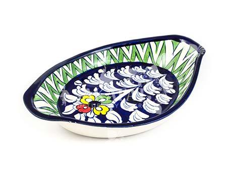 Blue Pottery Dish